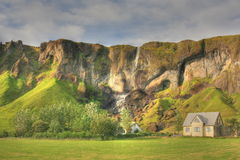 Campagne de l'Islande, hdr Photos stock