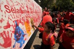 Campagne de la santé enfantile Photos libres de droits