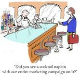 Campagne de marketing Images libres de droits