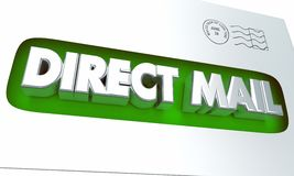 Campagne de marketing 3d Illustrat de la publicité d'enveloppe de courrier direct Photos libres de droits