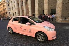 Campagne de sensibilisation de cancer du sein à Rome Image stock
