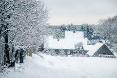 Campagne de Silenai en hiver photos stock