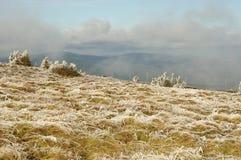 Campagne des montagnes de Moravian Photographie stock libre de droits
