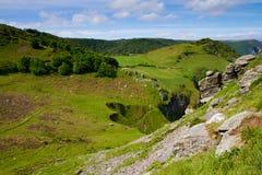 Campagne du Devon dans la vallée des roches Lynton Image libre de droits