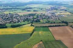 Campagne et villages près de Lyon, France Photographie stock