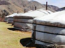 Campagne et yurts mongols Images libres de droits