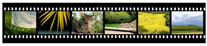 Campagne Filmstrip photographie stock
