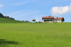Campagne idyllique en Bavière, Allemagne Photos libres de droits