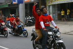 Campagne indonésienne de partie de lutte de démocratie Photographie stock