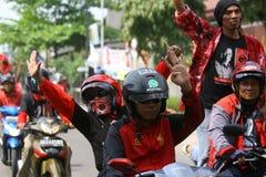Campagne indonésienne de partie de lutte de démocratie Images stock