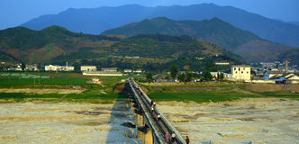 Campagne, Nord-Corée Image libre de droits