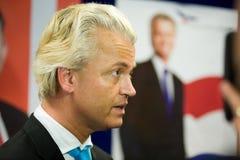 Campagne op de Geert Wilders Photo stock