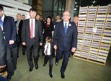 Campagne présidentielle de Bronislaw Komorowski Photographie stock libre de droits