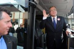 Campagne présidentielle de Bronislaw Komorowski Photos stock