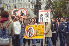 Campagne voor de bescherming van dieren Stock Foto's