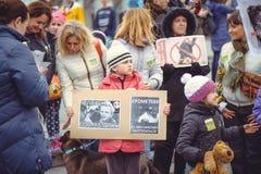 Campagne voor de bescherming van dieren Royalty-vrije Stock Afbeeldingen