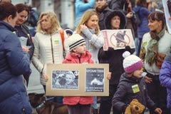 Campagne voor de bescherming van dieren Royalty-vrije Stock Afbeelding