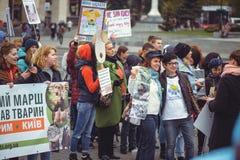 Campagne voor de bescherming van dieren Stock Afbeelding
