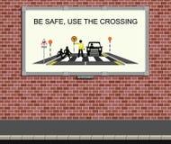 Campagne voor verkeersveiligheid Stock Fotografie