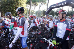 The Campagnolo Cycling Race in Rome Stock Image