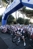The Campagnolo Cycling Race in Rome Royalty Free Stock Photos
