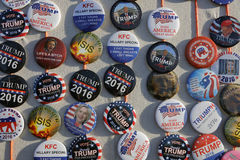 Campaign Buttons for GOP Presidential Candidate Donald Trump Cam Royalty Free Stock Images