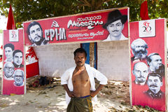 Campaign during the communist party elections in Kerala Stock Photos