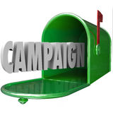 Campaign 3d Word Mailbox Deliver Direct Message Advertising Poli Royalty Free Stock Image