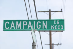 Campaign Drive street sign Stock Photos