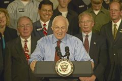 Campaign rally in Ohio attended by Vice Presidential candidate Dick Cheney, 2004 Stock Image