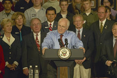 Campaign rally in Ohio attended by Vice Presidential candidate Dick Cheney, 2004 Royalty Free Stock Photography