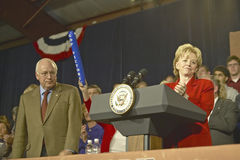 Campaign rally in Ohio attended by Vice Presidential candidate Dick Cheney, 2004 Stock Photos