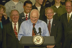 Campaign rally in Ohio attended by Vice Presidential candidate Dick Cheney, 2004 Royalty Free Stock Photo