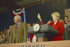 Campaign rally in Ohio attended by Vice Presidential candidate Cheney, 2004 Stock Image