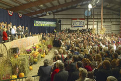 Campaign rally in Ohio attended by Vice Presidential candidate Cheney, 2004 Royalty Free Stock Photo