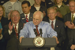 Campaign rally in Ohio attended by Vice Presidential candidate Dick Cheney, 2004 Royalty Free Stock Photos