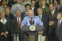 Campaign rally in Ohio attended by Vice Presidential candidate Dick Cheney, 2004 Royalty Free Stock Images
