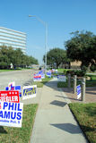 Campaign signs in Houston TX. Campaign signs in the City of Houston, Texas Royalty Free Stock Image