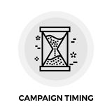 Campaign Timing Icon. Campaign Timing Services Icon Vector. Campaign Timing Icon Flat. Campaign Timing Icon Image. Campaign Timing Line icon. Campaign Timing Stock Photography