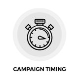 Campaign Timing Icon. Vector. Flat icon isolated on the white background. Editable EPS file. Vector illustration Stock Photo