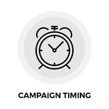 Campaign Timing Icon. Vector. Flat icon isolated on the white background. Editable EPS file. Vector illustration Stock Photos