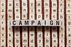 Campaign word concept stock images