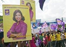 Campaing 2012 das eleições da República Dominicana Fotografia de Stock Royalty Free