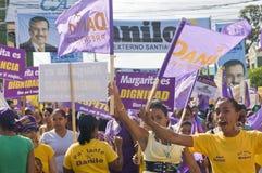 Campaing 2012 der Dominikanische Republik-Wahlen Stockbilder