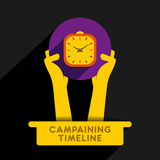 Campaining timeline icon design Stock Photos