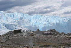 Campamento base en perito moreno Stock Photos