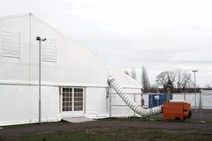 Campamento de refugiados Imagen de archivo libre de regalías
