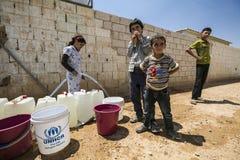 Campamento de refugiados de Al Zaatari Fotos de archivo libres de regalías