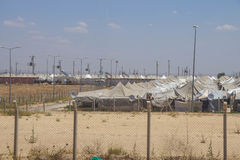 Campamento de refugiados del sirio de Akcakale Imagenes de archivo