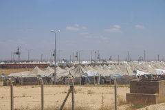 Campamento de refugiados del sirio de Akcakale Imagen de archivo